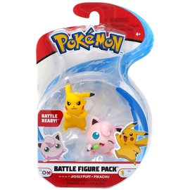 Wicked Cool Toys Figurine - Pokémon - Battle Figure Pack Pikachu et Jigglypuff