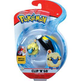 Wicked Cool Toys Figurine - Pokémon - Accessoire pour ceinture Clip 'n' go Mareep et Ultra Ball