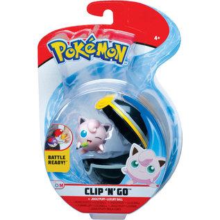 Wicked Cool Toys Figurine - Pokémon - Accessoire pour ceinture Clip 'n' go Jigglypuff et Luxury Ball