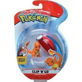 Wicked Cool Toys Figurine - Pokémon - Accessoire pour ceinture Clip 'n' go Charmander et Poke Ball