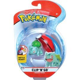 Wicked Cool Toys Figurine - Pokémon - Accessoire pour ceinture Clip 'n' go Bulbasaur et Poke Ball