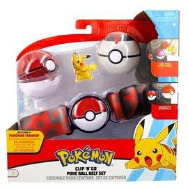 Wicked Cool Toys Figurine - Pokémon - Ensemble pour ceinture Clip 'n' go Pikachu