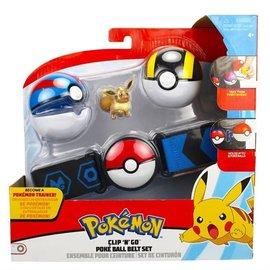 Wicked Cool Toys Figurine - Pokémon - Ensemble pour ceinture Clip 'n' go Eevee