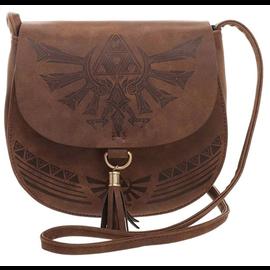 Bioworld Purse - The Legend of Zelda - Hyrule Logo Brown Saddlebag