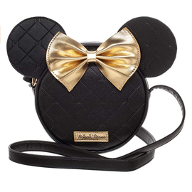Bioworld Purse - Disney - Minnie Mouse Black with Gold Bow