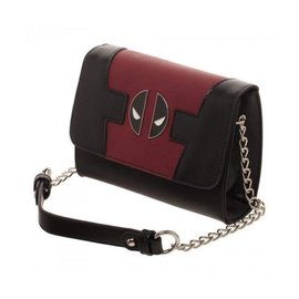 Bioworld Purse - Marvel - Deadpool Red and Black with Metal Logo