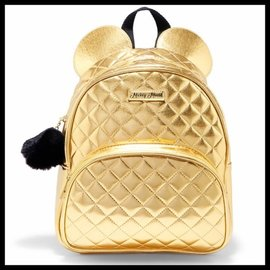 Bioworld Mini Backpack - Mickey Mouse Gold with Pompom