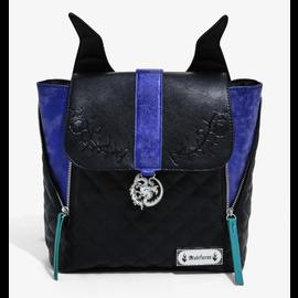 Bioworld Mini Backpack - Disney - Sleeping Beauty: Villains Maleficent with Metal Dragon Charm