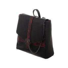 Bioworld Mini sac à dos - Game of Thrones - Targaryen Rouge et Noir avec Logo en Métal