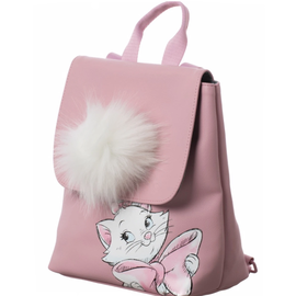 Bioworld Mini Backpack - Disney - Aristocats: Marie Pink with Pompom
