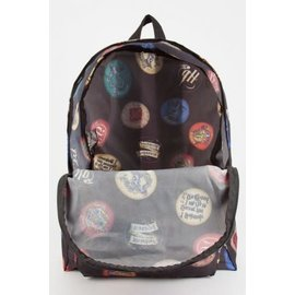 Bioworld Backpack - Harry Potter - Hogwarts Sublimated Buttons Packable