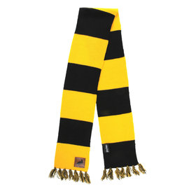 Elope Scarf - Harry Potter - Striped with Leather Patch Hufflepuff