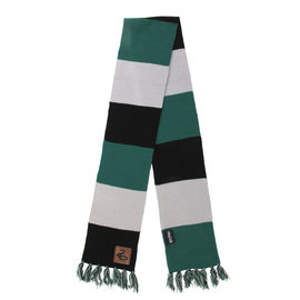 Elope Scarf - Harry Potter - Striped with Leather Patch Slytherin