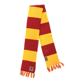 Elope Scarf - Harry Potter - Striped with Leather Patch Gryffindor