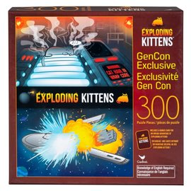 Cardinal Puzzle - Exploding Kittens - Gen Con Exclusive with Bonus Card 300 pieces