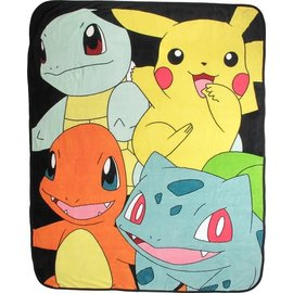 Bioworld Blanket - Pokémon - Starter Pokémons Plush Throw