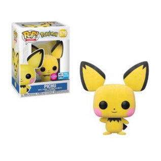 Funko Funko Pop! Games - Pokémon - Pichu 579 *Flocked 2020 Wonderous Convention Exclusive*
