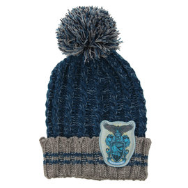 Elope Winter Hat - Harry Potter - Heathered Pom with Ravenclaw Crest