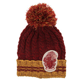 Elope Winter Hat - Harry Potter - Heathered Pom with Gryffondor Crest
