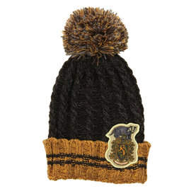 Elope Winter Hat - Harry Potter - Heathered Pom with Hufflepuff Crest