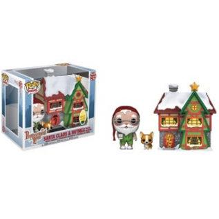 Funko Funko Pop! Christmas - Peppermint Lane - Santa Claus and Nutmeg with House 01