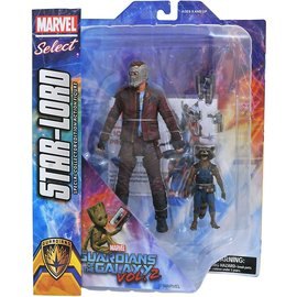 Diamond Toys Figurine - Marvel Select - Guardians of the Galaxy Vol.2: Star-Lord avec Rocket Racoon
