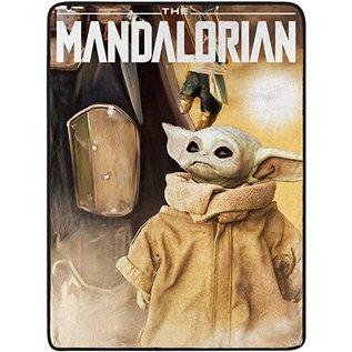 """Northwest Company Couverture - Star Wars The Mandalorian - """"Time to Go"""" Bébé Yoda Jeté en Peluche"""