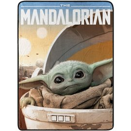 "Northwest Company Blanket - Star Wars The Mandalorian - ""Child Arrived"" Fleece Throw"