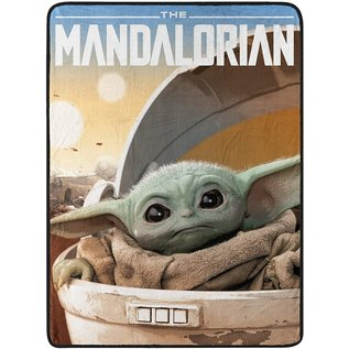"Northwest Company Couverture - Star Wars The Mandalorian - ""Child Arrived"" Bébé Yoda Jeté en Peluche"