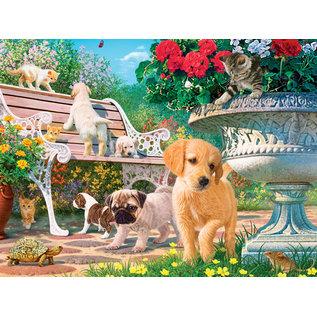 Master Pieces Puzzle Co Casse-tête - Master Pieces - Un Après-midi au Parc: Images Cachées Brillant dans le Noir 550 pièces