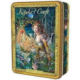Master Pieces Puzzle Co Casse-tête - Kinuko Y. Craft - Wildwood Dancing en Boîte Métallique 1000 pièces