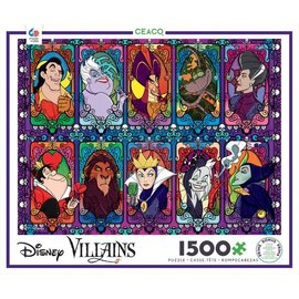Ceaco Puzzle - Disney - Villains Stained Glass 1500 pieces
