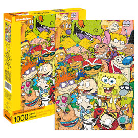 Aquarius Puzzle - Nickelodeon - Characters Collage 1000 pieces