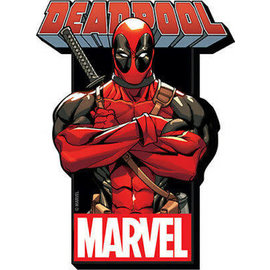 NMR Aimant - Marvel - Deadpool: en Bois 3D