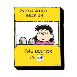 NMR Aimant - Peanuts - Lucy Psychiatric Help en Bois 3D