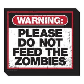 NMR Aimant - Zombies - Warning : Please do not Feed the Zombies en Bois 3D