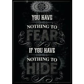 Ata-Boy Aimant - Harry Potter - You Have Nothing to Fear if You Have Nothing to Hide