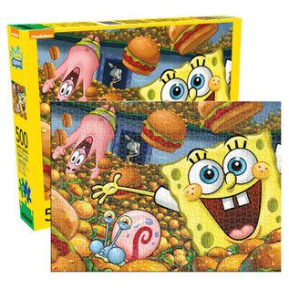 Aquarius Casse-tête - Nickelodeon -SpongeBob et Hamburgers 500 pièces