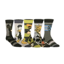 Bioworld Socks - Kingdom Hearts - Characters 5 Pairs Casual Crew Pack