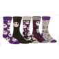 Bioworld Chaussettes - Disney - The Nightmare Before Christmas: Jack Skellington Mauve Paquet de 5 Paires Crew