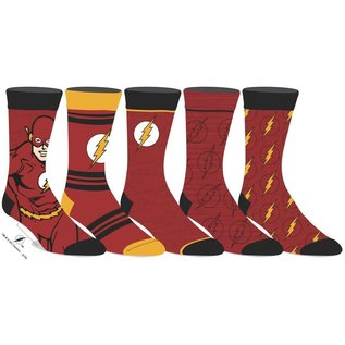 Bioworld Chaussettes - DC Comics - The Flash: Paquet de 5 Paires Crew