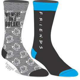 Bioworld Socks - Friends - We Were on a Break 2 Pairs Crew Pack