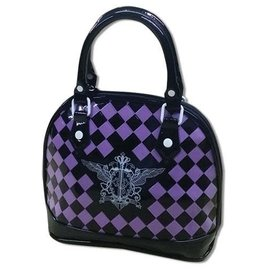 Aniplex Purse - Black Butler - Checkered Purple and Black