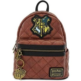 Loungefly Mini Backpack - Harry Potter - Padded with Hogwarts Crest and Metal Keychain
