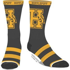 Bioworld Socks - Harry Potter - Hufflepuff with Letter and Badger 1 Pair Crew