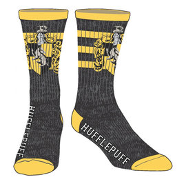 Bioworld Socks - Harry Potter - Hufflepuff with Three Stripes and Crest 1 Pair Crew