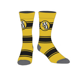 Bioworld Socks - Harry Potter - Hufflepuff with Large Stripes and Badger 1 Pair Crew
