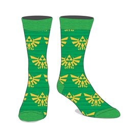 Bioworld Socks - The Legend of Zelda - Hyrule Crests Green Shades 1 Pair Crew
