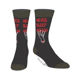 Bioworld Socks - A Nightmare on Elm Street - Freddy Never Sleep Again 1 Pair Crew