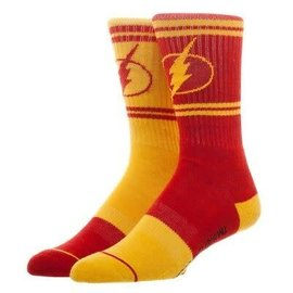 Bioworld Socks - DC Comics - The Flash: Logo Inverted Yellow and Red 1 Pair Crew